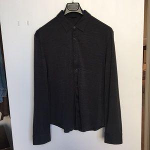 John Varvatos button down silk cotton shirt